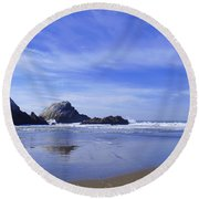 Rugged Reflections Round Beach Towel