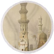 Ruined Mosques In The Desert, West Round Beach Towel