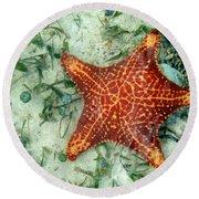 Running Starfish Round Beach Towel