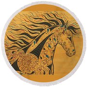 Runs With The Wind Round Beach Towel by Susie WEBER