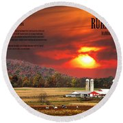 Round Beach Towel featuring the photograph Rural Barns  My Book Cover by Randall Branham