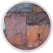 Rust Squared Round Beach Towel