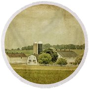 Rustic Farm - Barn Round Beach Towel
