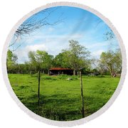 Rustic Land Of Beauty - Rural Texas Round Beach Towel