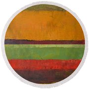 Rustic Layers 3.0 Round Beach Towel