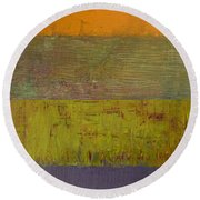 Rustic Layers 4.0 Round Beach Towel