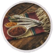 Rustic Spices Round Beach Towel