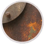 Rusty Abstraction Round Beach Towel