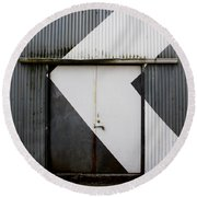 Rusty Door- Photography Round Beach Towel
