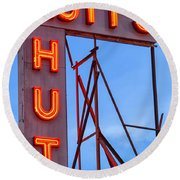 Rutt's Hut Round Beach Towel