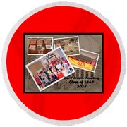 S J A Reunion Collage Picture Pile Round Beach Towel