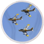 Sabres Of The Horsemen Round Beach Towel