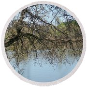 Fall At Sacramento River Scenic Photography Round Beach Towel