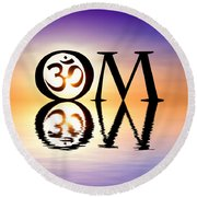 Sacred Om Round Beach Towel by Tim Gainey