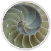 Round Beach Towel featuring the photograph Sacred Spiral II by Jeanette French