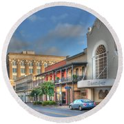 Saenger Theater Round Beach Towel