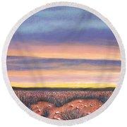 Sagebrush Sunset A Round Beach Towel