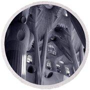 Sagrada Familia Vault Round Beach Towel