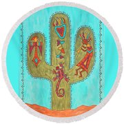 Saguaro Soiree Round Beach Towel by Susie WEBER