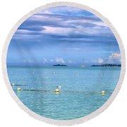 Sail At Sea 2 Round Beach Towel