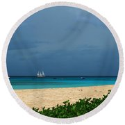 Sail Away Round Beach Towel