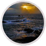Sail Rock Sunrise Round Beach Towel