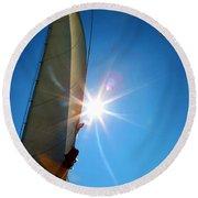 Sail Shine By Jan Marvin Studios Round Beach Towel