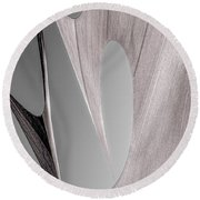 Sailcloth Abstract Number 2 Round Beach Towel