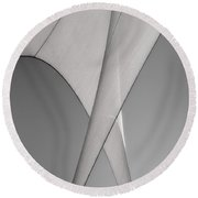 Sailcloth Abstract Number 3 Round Beach Towel