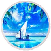 Sailing Round Beach Towel