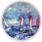 Sailing Magic Round Beach Towel