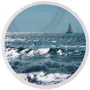 Sailing Round Beach Towel by Mike Ste Marie