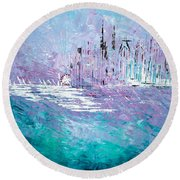 Sailing South - Sold Round Beach Towel by George Riney