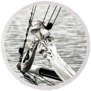 Sailing The Seven Seas Round Beach Towel