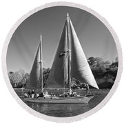 The Fearless On Lake Taupo Round Beach Towel by Venetia Featherstone-Witty