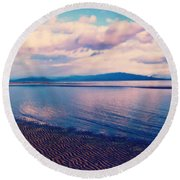 Round Beach Towel featuring the photograph Sailor's Delight by Marilyn Wilson