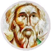 Saint Andrew  Round Beach Towel