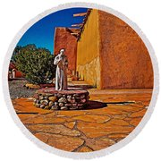 Saint Francis Round Beach Towel