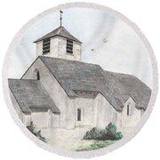 Saint-jean-baptiste A Chassignelles Round Beach Towel