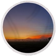 Saint-lin Laurentides - Qc Round Beach Towel