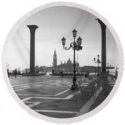 Saint Mark Square, Venice, Italy Round Beach Towel