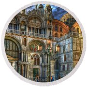Saint Marks Square Round Beach Towel by Jerry Fornarotto