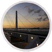 Saint Martin Causeway Bridge Round Beach Towel