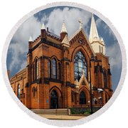 Saint Mary Of The Mount Church Round Beach Towel