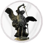 Saint Michael Round Beach Towel