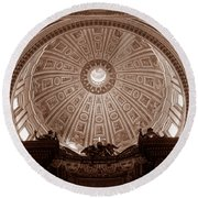 Saint Peter Dome Round Beach Towel