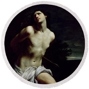 Saint Sebastian Round Beach Towel