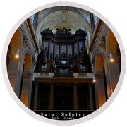Saint Sulpice Round Beach Towel by Dany Lison