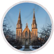 Saint Thomas Of Villanova Round Beach Towel
