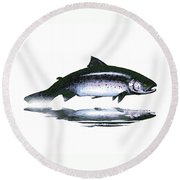 Salar - The Leaper Round Beach Towel